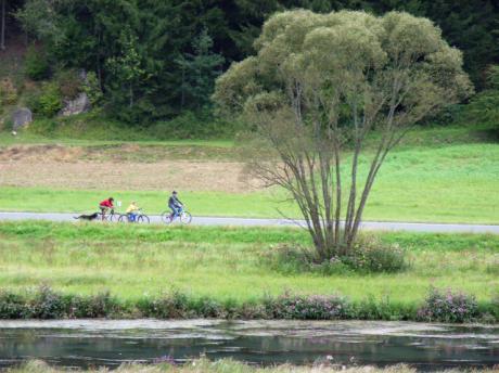 Radfahrer im Wiesenttal